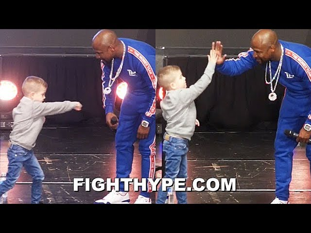 Icon Sports: Floyd Mayweather Jr. takes his time to motivate 5 year old future boxer