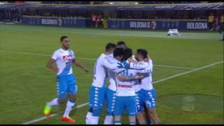 Il gol di hamsik (4') - bologna - napoli 1-7 - giornata 23 - serie a tim 2016/17