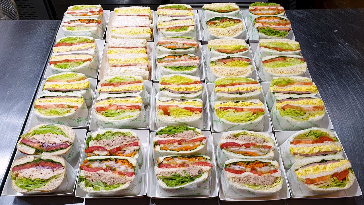 Download 청주 샌드위치 달인, 햄 에그 샌드위치, 참치 마요, 햄 치즈, Sandwich master, Ham egg, Tuna, Ham cheese, Korean street food