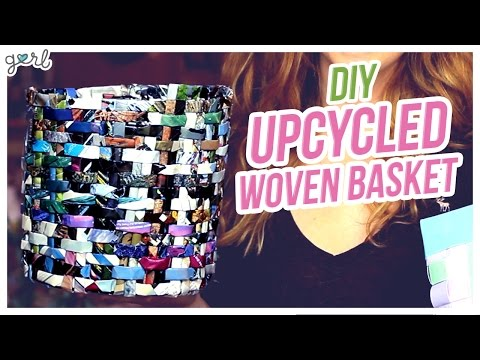 DIY Magazine/Duct Tape Basket!