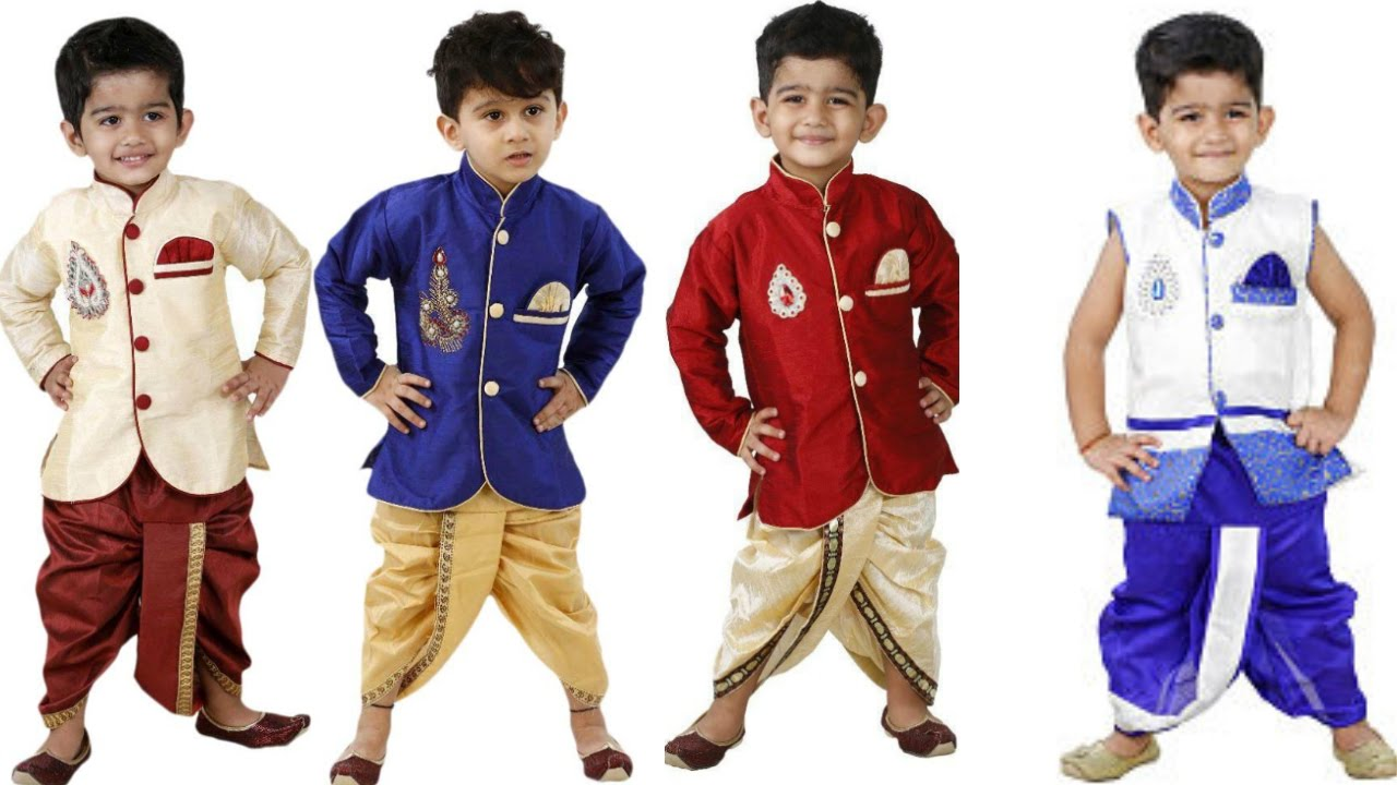 Kids dress for boys kids dresser kids dhoti kurts for Boys dress clothes wedding