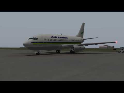 Air Gabon B737-200 departure Banjul (X-Plane 9,7)