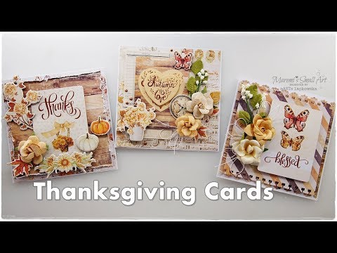 Thanksgiving Cards Ideas for Beginners ♡ Maremi's Small Art ♡