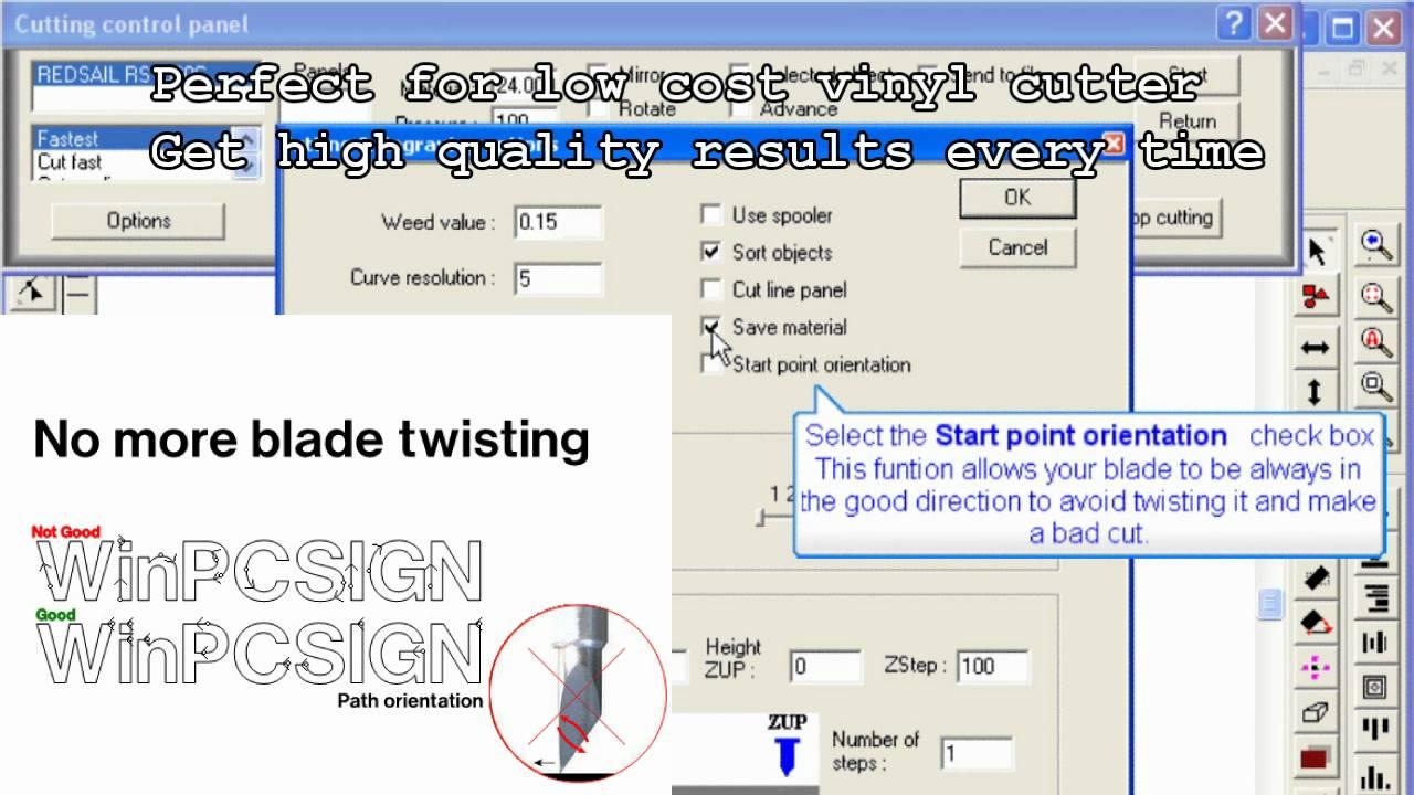 Vinyl Cutter Software >> WinPCSIGN Vinyl cutter software optimization ( get more ...