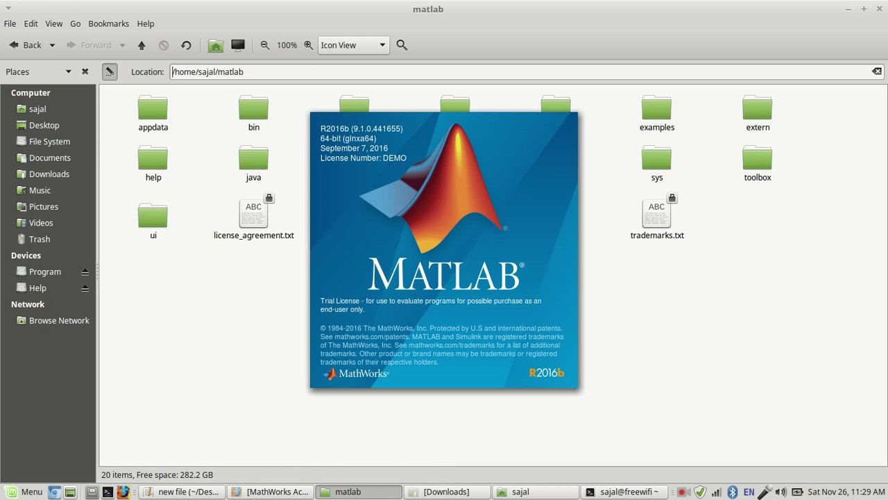 mathlab install in linux mint 18