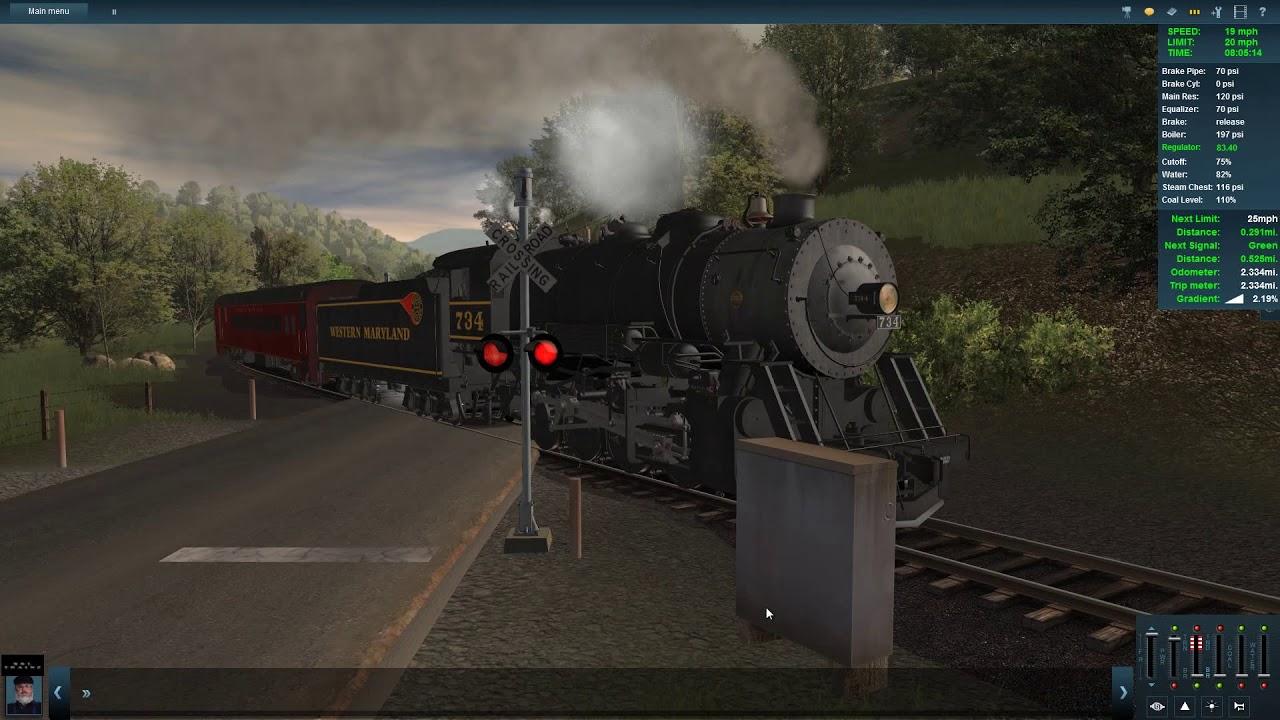 Trainz : A New Era Coal Country Tour Run with K&L Trainz W&M #734