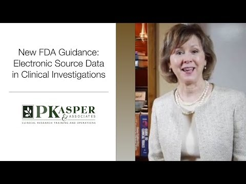 New FDA Guidance:  Electronic Source Data in Clinical Investigations