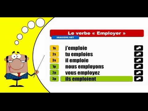Je Conjugue Les Verbes Employer Indicatif Present Youtube