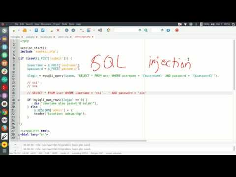 Tutorial 26: Web - SQL injection dasar