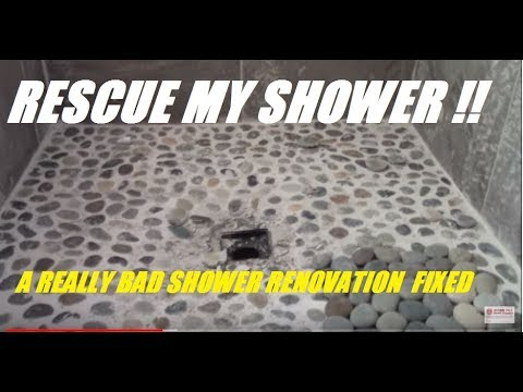 RESCUE MY SHOWER !!  ....horrible tile job by contractor