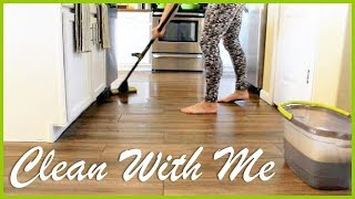 CLEAN WITH ME | MESSY HOUSE | PREGNANT WITH A TODDLER | CLEANING MOTIVATION