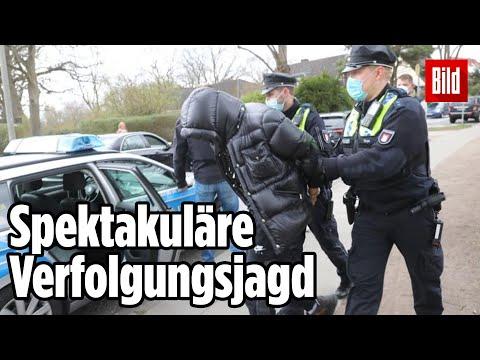 Raser-Pärchen in Hamburg gestoppt: Polizei schießt auf Auto