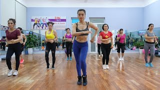AEROBIC DANCE 45 MIN AEROBIC WORKOUT with a weight loss trainer at home