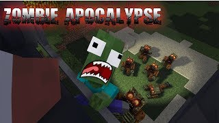 Monster School : FUNNY ZOMBIE APOCALYPSE - Best Minecraft Animation