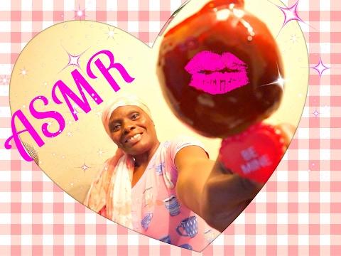 🍬 🍎  Candy Apple ASMR Eating Sounds🍬 🍏  Soft Spoken 👄