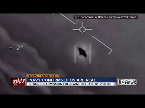 Navy confirms declassified military footage shows UFOs