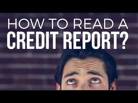 How to Read a Credit Report