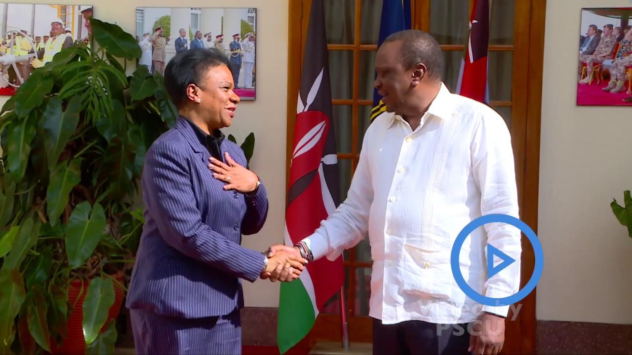 President Uhuru Kenyatta  meets Cuban Vice President