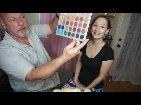 Green Beret Dad Does My  Makeup Challenge/Tag| 2017| VLOGMAS Day2
