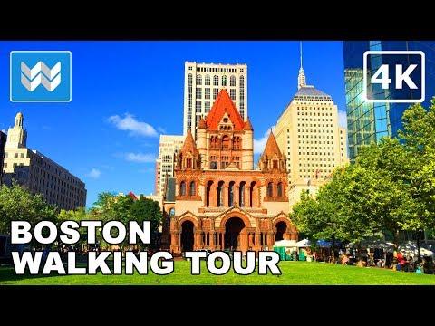 Boston Walking Tour - Beacon Hill, Public Garden, Newbury Street   Travel Guide 【4K】