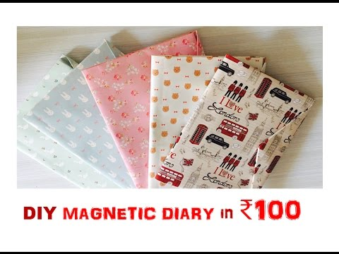 DIY Magnetic Diary In ₹100 | Heli