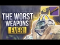 Destiny DONT EVER USE THESE WEAPONS - Destiny The Worst Weapons In Crucible