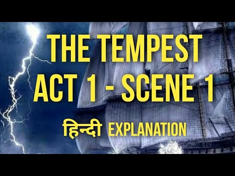 Isc English The Tempest Act 1 Scene Hindi Explanation William Shakespeare Summary Youtube 4 Paraphrase