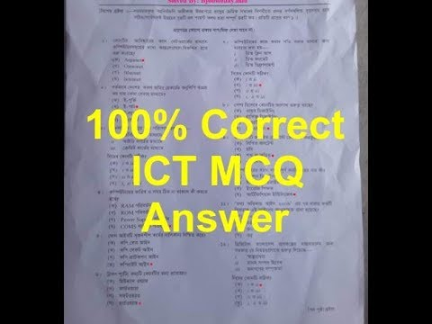 SSC ICT Question Solution 2019 100% Correct ICT MCQ Answer