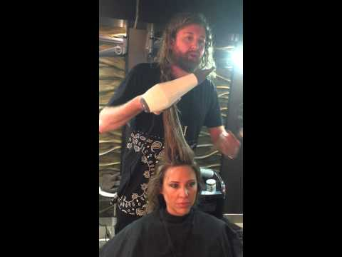 Big and bouncy blow dry by David Fletcher for Unite Haircare