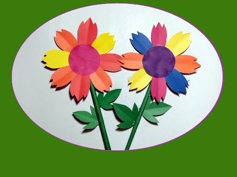 Easy Paper Flowers | Easy paper cutting flower craft | paper art-2019