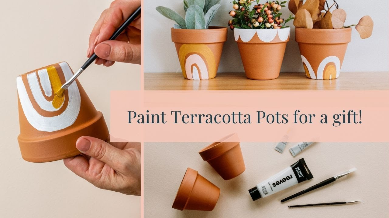 Paint Terracotta Pots To Make A Cute Gift Youtube