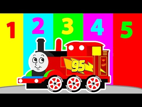 Thumbnail: MCQUEEN THOMAS TRAIN for Kids w Learn Colors & Numbers in Cars Cartoon for Children Learning Video