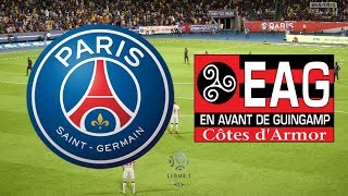Ligue 1 2017/18 - psg vs guingamp - 29/04/18 - fifa 18