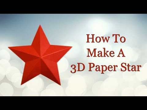 How to Make 3D Paper Star | Step by Step Guide to Make a Paper Origami Star