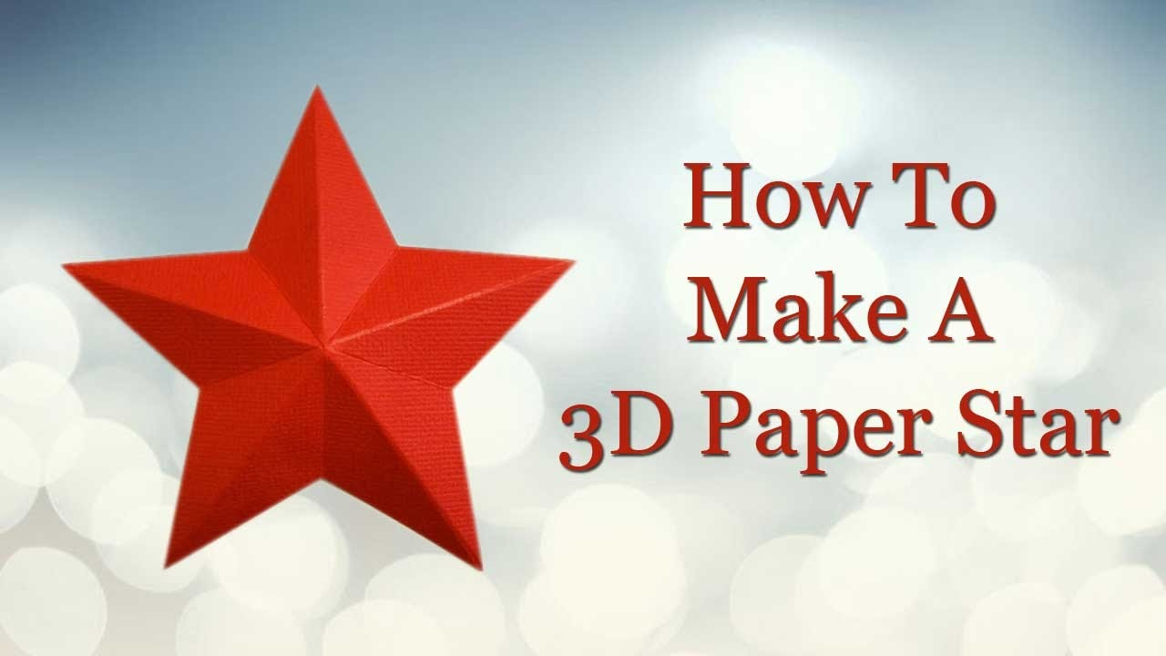 How to make 3d paper star youtube for Make a 3d star