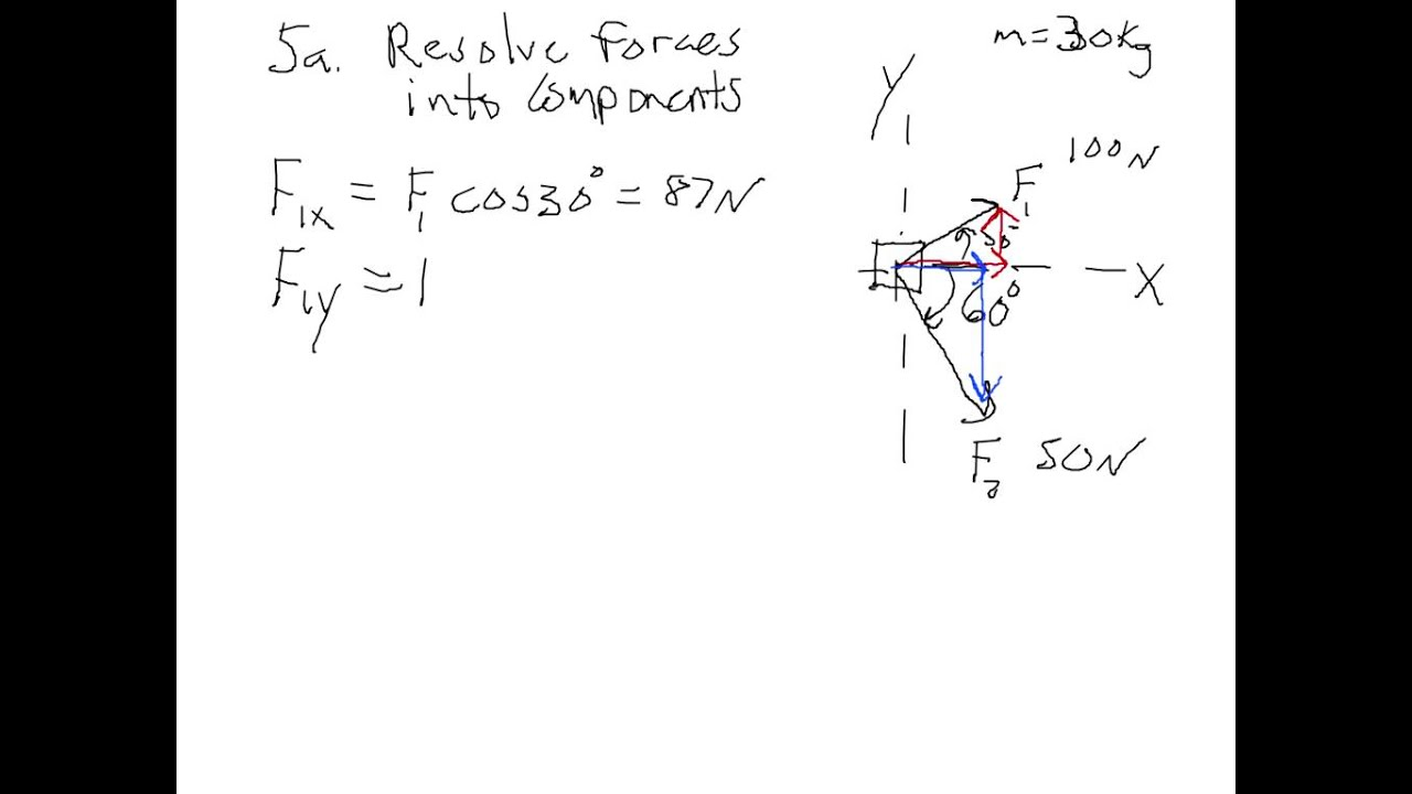 Free Body Diagram Example Problem 1  With Closed Caption