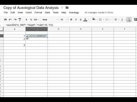 Auxology  - Screencast 1