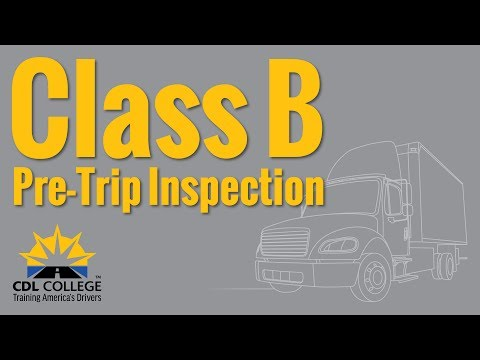TRUCK DRIVER STUDENTS! Class B Pre Trip Inspection (stable camera)