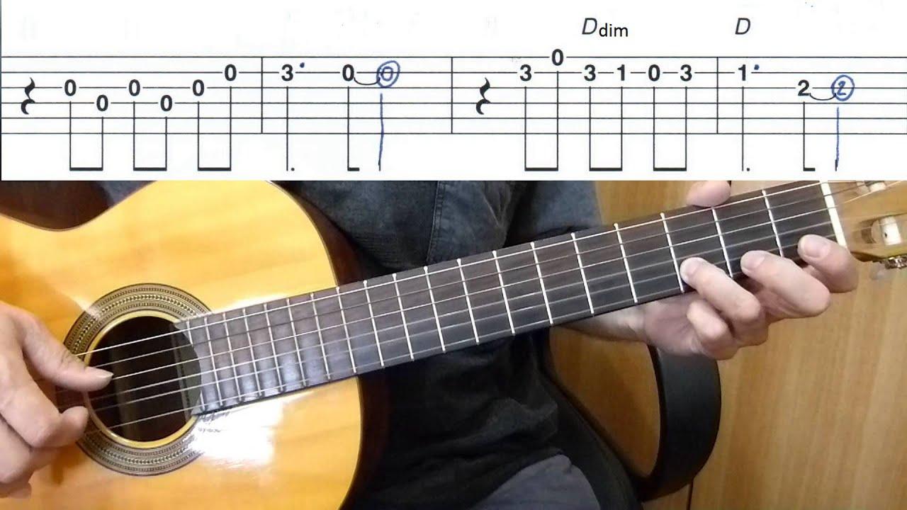 La Cucaracha Easy Guitar Melody Tutorial Tab Guitar Lesson Youtube