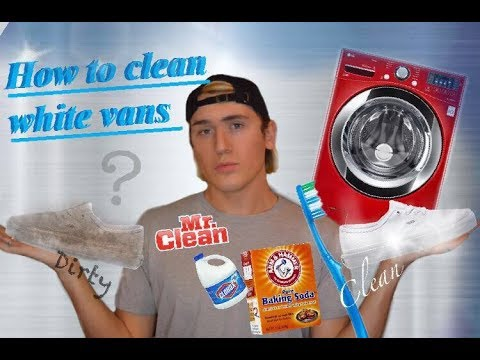 DIY how to clean White Vans/ Washer machine Vs. Baking Soda