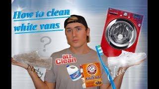 DIY how to clean White Vans/ Washer machine Vs. Baking Soda