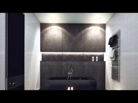 Дизайн квартиры для холостяка 100 м  Пентхаус с панорамными окнами  Кухня гостиная