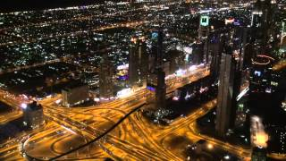 Dubai at night - Burj Khalifa At The Top