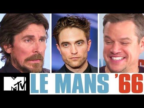 Christian Bale & Matt Damon Give Robert Pattinson Advice For Batman | Le Mans '66 | MTV Movies