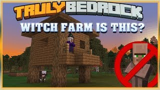 Truly Bedrock S1 EP01 : Witch Farm is this? [ Minecraft, MCPE, Bedrock Edition ]