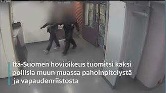 Poliisi pahoinpitelee kiinniotetun
