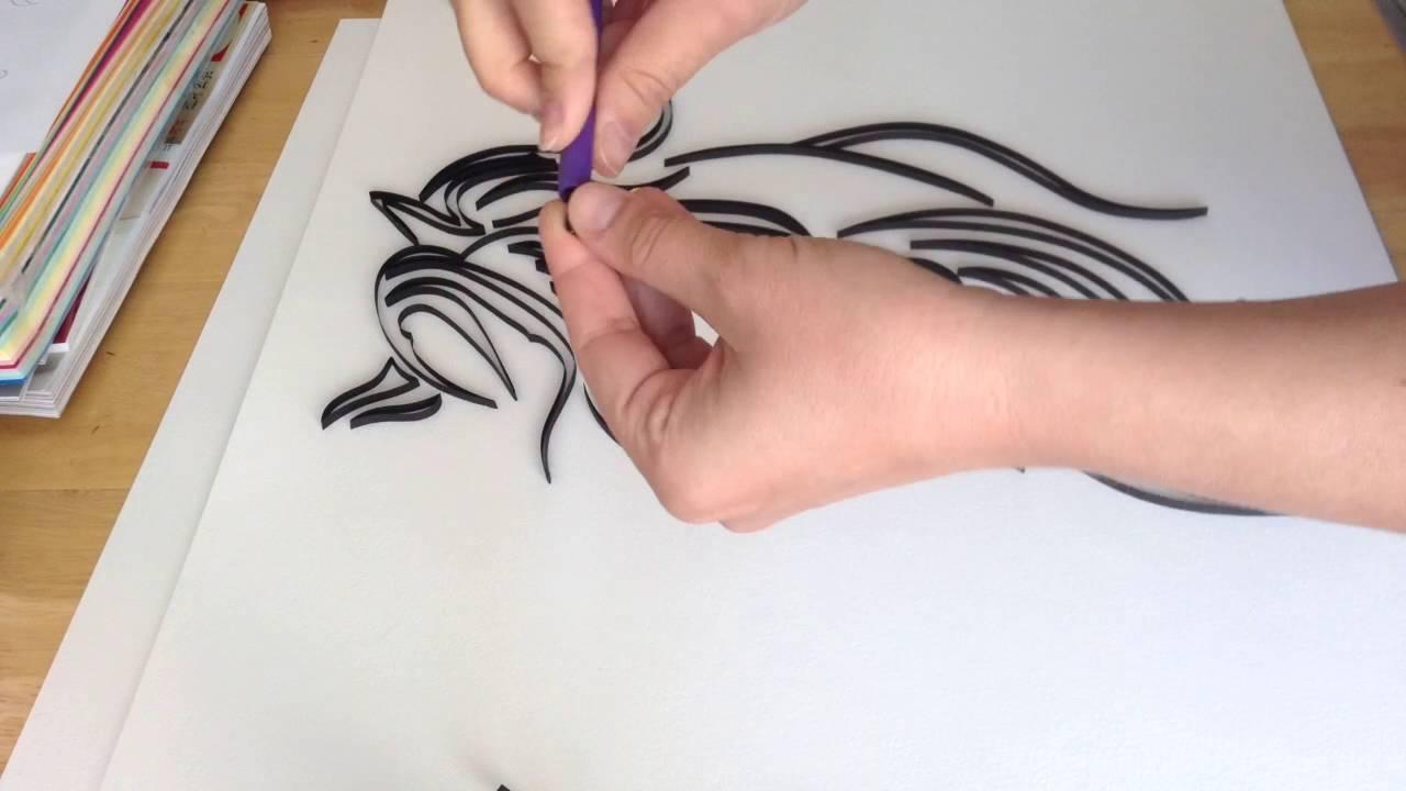 Papercraft Dark Horse Quilling Art