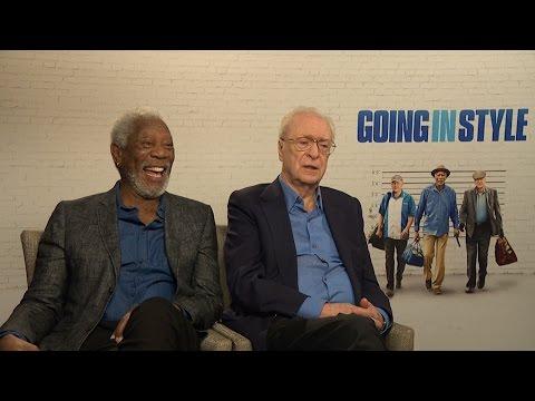 Morgan Freeman and Michael Caine tell TERRIBLE jokes | Going In Style