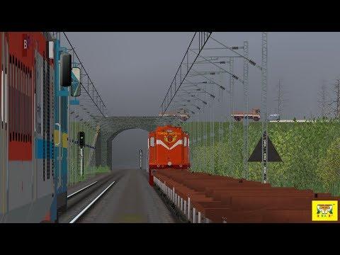 Indian Railways || Huge Parallel Run Between Passenger nd Freight IR