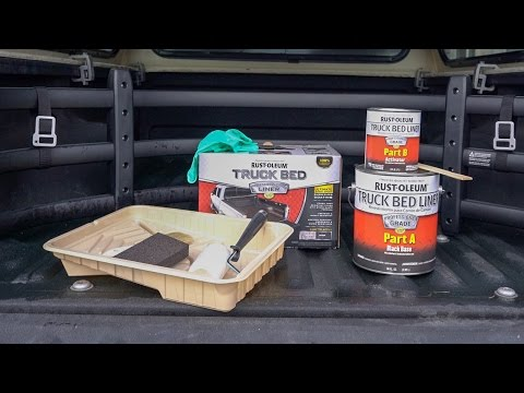 Rust-Oleum Truck Bed Liner Kit on Truck Canopy